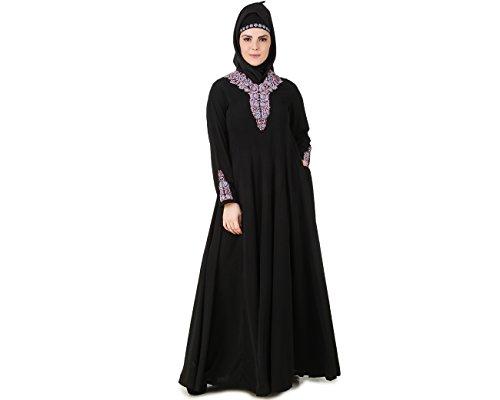 MyBatua Negro Ocasiones Musulmanes llevan islámico Burka Jalabiya AY-490