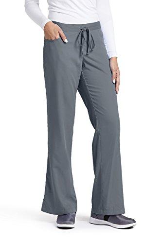 Grey's Anatomy Women's Junior-Fit Five-Pocket Drawstring Scrub Pant - Small - Granite