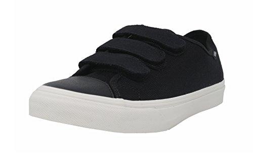 Vans Unisex Shoes Prison Issue Black/White Fashion Sneaker (9 Mens / 10.5 Womens) (Vans Strap Shoes)