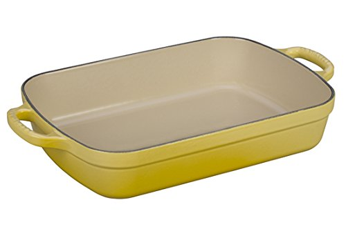 Le Creuset Signature Cast Iron Rectangular Roaster, 3.0-Quart, Soleil by Le Creuset
