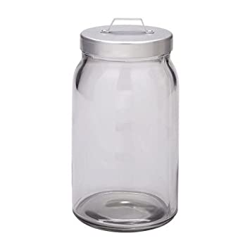 IKEA burken barattolo con coperchio; in vetro trasparente; (1,1 L ...