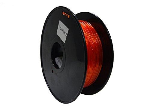 Nice HobbyKing 3D Printer Filament 1.75mm Flexible 0.8KG Spool (Orange) hot sale