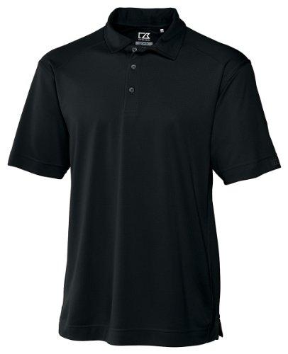 Cutter & Buck Men's Cb Drytec Genre Polo Shirt, Black, X-Large