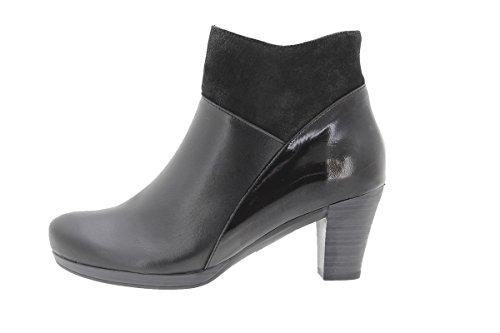 PieSanto Women's 9805 Black Leather Ankle Boot Comfort Extra Wide 41 W EU (10.5-11 C/D US Women) by PieSanto