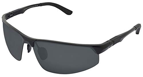 AL Outdoor Lente Marco De Hombre Conduce Marco Deportes WHCREAT Gafas 02 Negro MG Black Polarizado Sol Que z8qnH