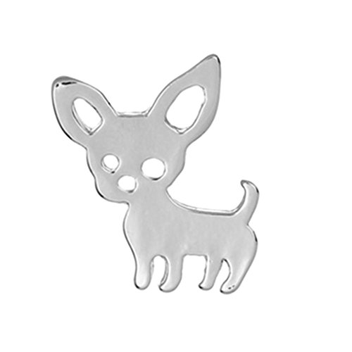 Lovely Cartoon Dog Women Girl Plated Silver Alloy Brooch Boy Simple Vintage Breastpin Clothes Decoration -