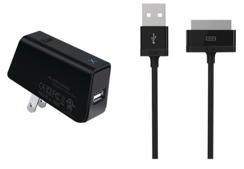 iLuv USB AC Adapter with iPad Cable