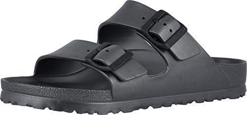 Birkenstock Women's Arizona EVA Sandals, Metallic Anthracite, 39 Narrow EU, 8-8.5 US