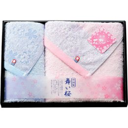 【まとめ 4セット】 花想い 舞い桜 今治製バスタオル&ウォッシュタオル L2059046 L3052544 B07KNT9QBD
