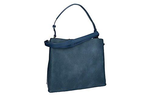 Tasche damen mit Schultergurt PIERRE CARDIN blau mit zip VN1750