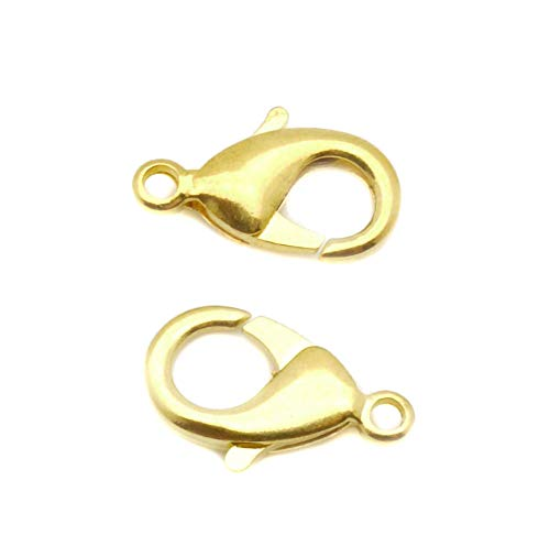 - TheTasteJewelry 19mm Lobster Clasp Gold Tone Lot Lot 50 Pcs Findings Jewelry Making Finishings