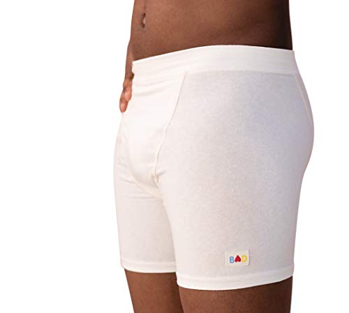 (Organic Boxer Briefs Made in The USA from Hypoallergenic Hemp & Cotton)