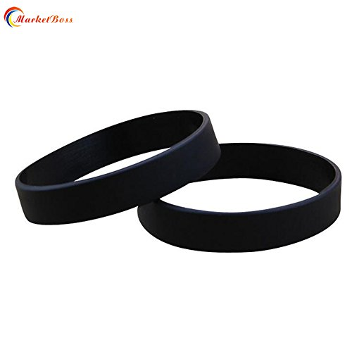MarketBoss 2pcs Colorful Universial Men/Women/Exquisite silicone wristband Cool bracelet for outdoor sports(black) (Bracelet Silicone Sport)