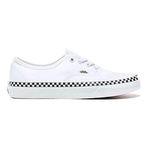 Vans New 2019 Check Foxing Unisex Authentic Check Foxing True White Original Shoes (Men 4 / Women 5.5)