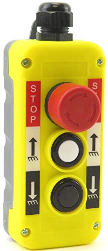 (YuCo YC-3B-SUD Hoist Crane Pendant Control Station Switch 3-Button)