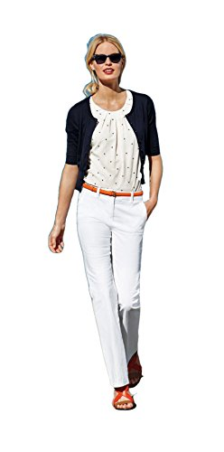 Boden Bootcut Trousers - BODEN Women's White Bootcut Slim Trousers Pants WM359 - Size US 16