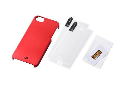 Hard Coated Metallic iPhone 5 Case (Metallic Red)