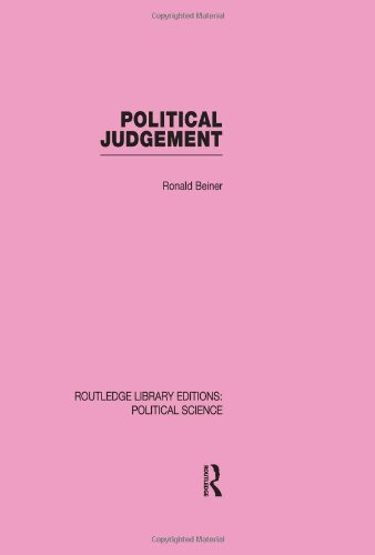 Political Judgement (Routledge Library Editions: Political Science Volume 20)