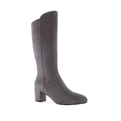 Large AM4098 Boots Petite Machado Andres Suede Suede Sizes Grey amp; Mid in Heel qBInzUwI5