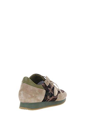 Philippe Model Sneakers Uomo Trlucf14 Camoscio Beige/Verde