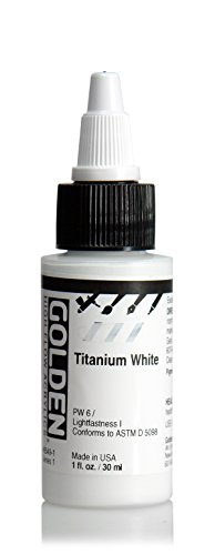 Golden High Flow Arcylic Paint, 1 Ounce, Titanium White