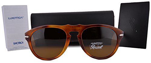 Persol PO0649S Sunglasses Light Havana w/Crystal Brown Lens 9633 - Persol Sunglasses 0649