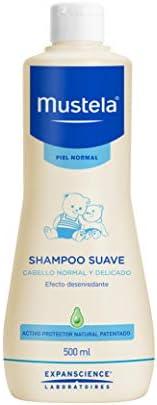 Mustela Mustela Shampoo Suave Para Piel Normal Libre De Jabón, color Multicolor, 500 ml, pack of/paquete de