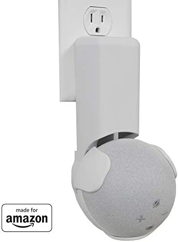 All New, Made For Amazon Outlet Hanger, White, for Echo Dot (4th generation)