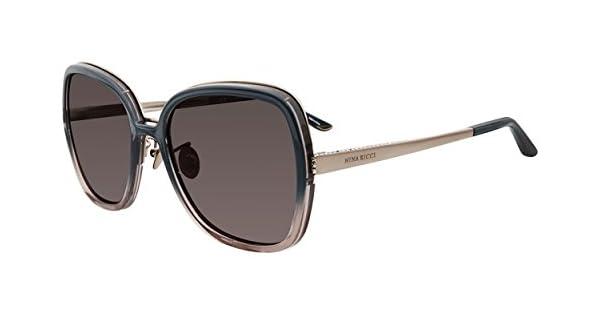Amazon.com: anteojos de sol Nina Ricci SNR 107 S azul 09 CE ...