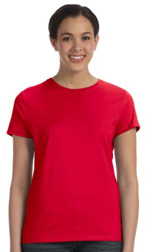 Hanes Women's Nano T-Shirt, Small, Deep (Red Blue T-shirt)