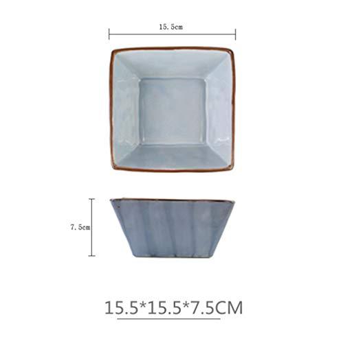 (Ceramic Bowls Nordic Style Porcelain Soup Bowl Pigmented Salad Rice Dessert Ice Cream)