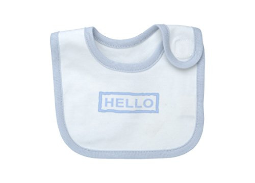 (Under The Nile Hello Goodbye Print Bib, Blue, 2 Count)