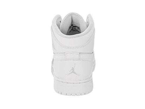 Air Jordan Pojkar Luft 1 Mitten Stora Barn Stil Vit / Svart-vit-logo