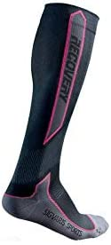 Chaussette Recovery Sigvaris Sport Noir// Rose Taille M
