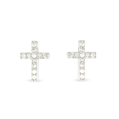 Tous mes bijoux - BOMB01085 - Boucles d'Oreilles Clous Femme - Argent 925/1000 1.3 gr - Oxyde de zirconium