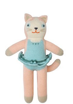Blabla Splash The Cat Mini Plush Doll - Knit Stuffed Animal for Kids. Cute, Cuddly & Soft Cotton Toy. Perfect, Forever Cherished. Eco-Friendly. Certified Safe & Non-Toxic. from Blabla