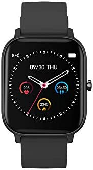 AMATAGE Smart Watch for Android Phones iPhone for Men Women, Fitness Tracker Watch with Heart Rate Monitor , Waterproof Activity Tracker with Sleep Monitor(Black) 31uct4E9kfL