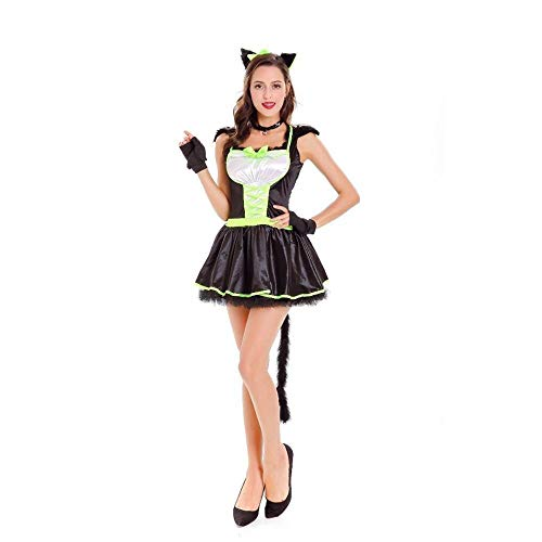 Yunfeng Witch Costume Halloween Demon Outfit Cosplay Stage Costume Cat Womens Cosplay Costume