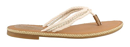 Sperry Top-Sider Women's Anchor Coy (Boxed) Flat Sandal, Natural/Gold, 9 M US