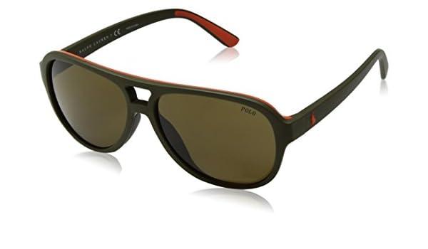 POLO RALPH LAUREN 0PH4123 Gafas de sol, Matte Olive Orange ...