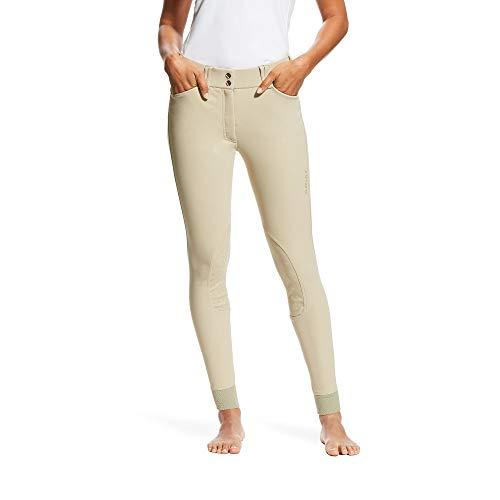- ARIAT Women's Tri Factor Grip Knee Patch Breech Tan Size 28 Long