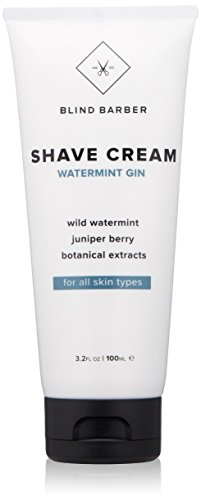 Blind Barber Watermint Gin Shave Cream - Protective Shaving Lather for Men, Sensitive & All Skin Types (3.2oz / - Cream Shaving Protective