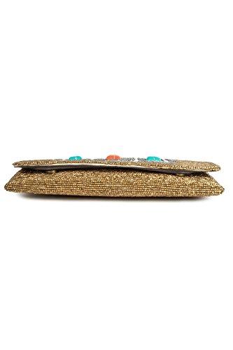 MyBatua Sadie oro ricamati a mano Pochette All Time borsa ACP-394
