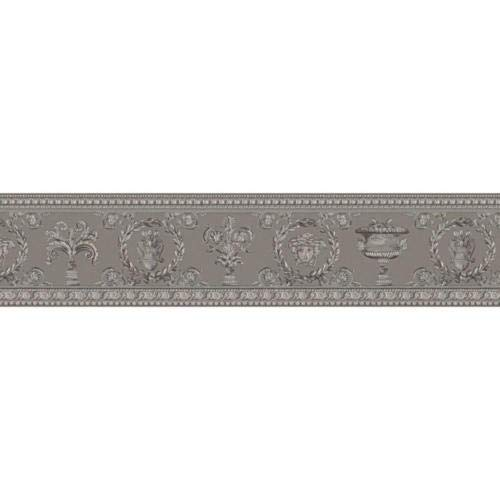 343053 - Versace Greek Mythology Grey Silver AS Creation Wallpaper Border