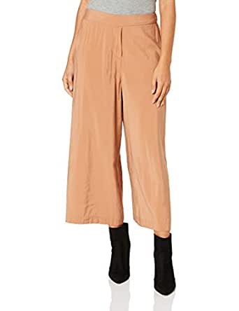 FATE + BECKER Women's Eclipse Wide Leg Cropped Pants, Caramel, Small