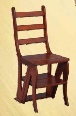 Amazon.com Amish Handcrafted Library Step Stool Chair Combo Kitchen u0026 Dining : wooden chair step stool combo - islam-shia.org