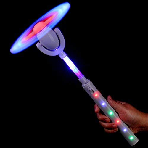 Fun Central LED Windmill Spinner - Light Up Magic Wands for Kids