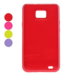 PEACH ships in 48 hours Protective Silica Gel Case for Samsung Galaxy S2 I9100 (Assorted Colors) , Purple