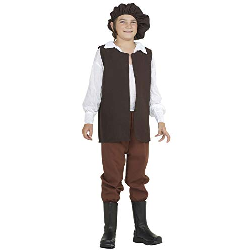 Easy Middle School Costumes - Arology Child Renaissance Boy Peasant Costume Fabric for Comfortable Fit, Including Shirt,
