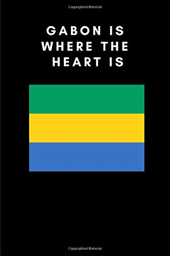 GABON IS WHERE THE HEART IS: Country Flag A5 Notebook for sale  Delivered anywhere in Canada